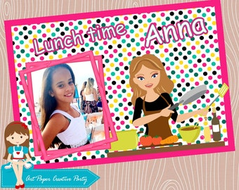 Kids Personalized Placemat with photo - Laminated Placemat. We can do it in any theme!