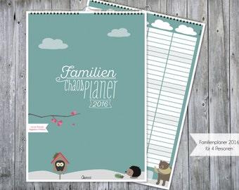 Familienplaner 2016 | A3 | Waldtiere