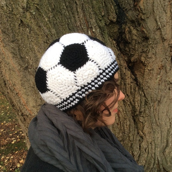 Soccer Ball Knitting Pattern : Instant Download: Soccer Ball Hat Crochet Pattern from CraftMaid on Etsy Studio