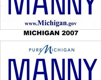 Personalized Michigan Refrigerator Magnet State License Plate Replica