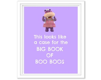 Hallie Doc Mcstuffins Book of Boo Boos 8x10 Digital Print Wall Art