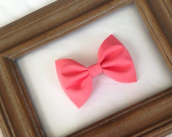 Pink Coral Hair Bow - Baby Hair Bow - Bow - Girls Hair Clip - Hair Bow - Baby Hair Clip - Hair Clip - Bow Hair Clip