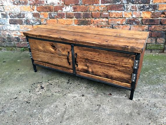 Reclaimed Industrial Chic Sideboard Dresser Wood& Copper