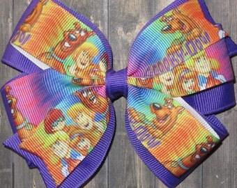 Scooby Doo Hair Bow / Scooby Doo Bows / Scooby Doo Gifts / Scooby Doo Party / 80's Cartoons / 80's Party / Shaggy / Fred / Daphne / Velma