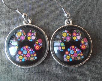 Paw earrings, Pet lover earrings, Pet paw earrings, Dog paw earrings, Handmade jewelry