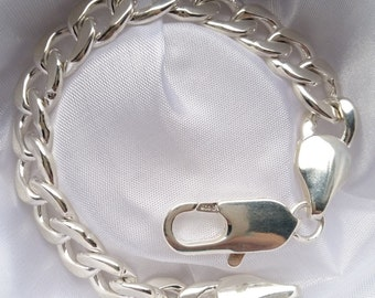 Massive armored bracelet 925 sterling silver