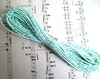 10 Metres of British Butchers Twine in Green and White 10m British Bakers Twine Bundle