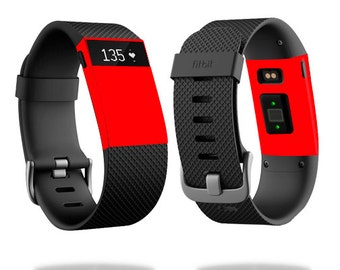 Skin Decal Wrap for Fitbit Blaze, Charge, Charge HR, Surge Watch cover sticker Solid Red