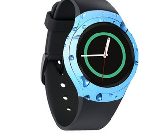 Skin Decal Wrap for Samsung Gear S2, S2 3G, Live, Neo S Smart Watch, Galaxy Gear Fit cover sticker Water Droplets