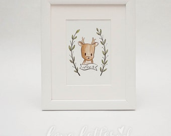 Deer     Woodland Creature Print