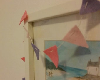 Custom made mini felt bunting. Choose your own colour combination.