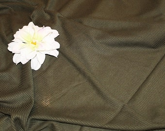 Dark Olive Green Rib Knit Fabric Destash, F139