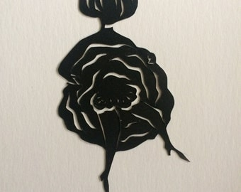 Can-Can Pumkinhead - Original Paper Cutting