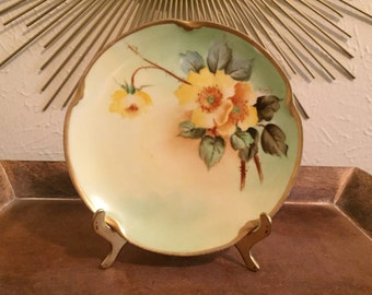 Vintage Pickard Hand Painted China Plate Artist Signed
