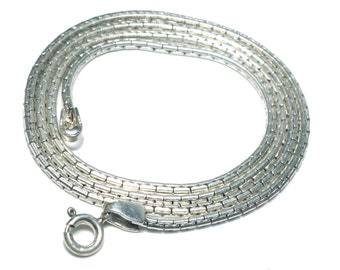 free shipping Indian handmade solid 92.5 sterling silver plain chain necklace 20 inches