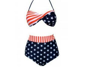 """Diva Cosmeticz """" patriot diva"""" swimwear."""