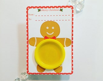Gingerbread man playdoh cards