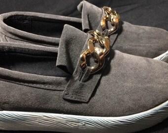 Faded Platform Gray Slip-On Shoes
