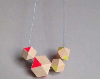 Geometric necklace beads neon / repositioning / decorate jewelry / gift / stained / gift for them /.