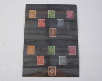 Lot of 12 Vintage 1950's ארבעת המינים של בר כוכבא Israel Stamps