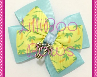 Handmade Typhoon Lagoon Beach Inspired Hair Bow