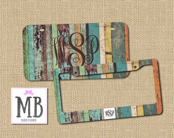 Wood License Plate, License plate, Personalized License Plate, Monogram License Plate, gift for him, jeep gift, truck gift, boho gift