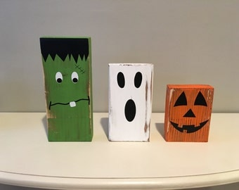 Halloween Wooden Block Set