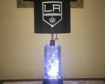 LA Kings glass block lamp