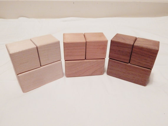 Items similar to wood baby age blocks for crafts and baby for Child craft wooden blocks