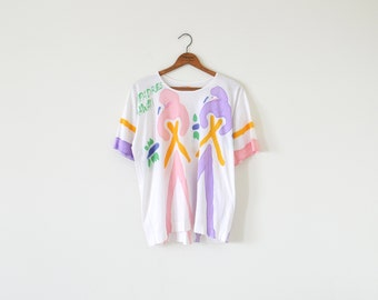 80s vintage t-shirt / Compadres Hawaii top / parrot t-shirt