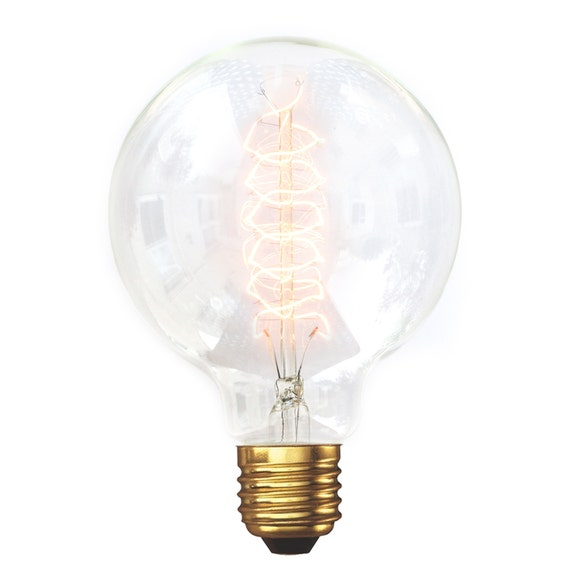 edison style vintage light bulb g95 medium globe spiral. Black Bedroom Furniture Sets. Home Design Ideas