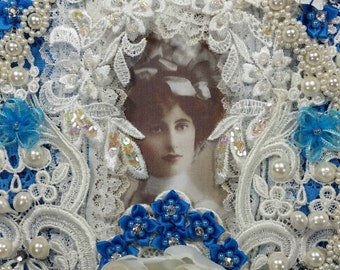 1/2 OFF Clearance Price - Marianne Shabby Victorian Lace Wall Hanging