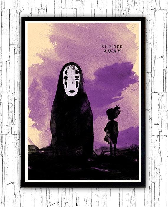 Spirited Away Hayao Miyazaki Minimalist Movie Poster