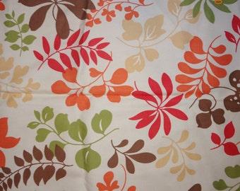"""5/8 Yard Retro Style Leaf Print Fabric - 56"""" wide"""