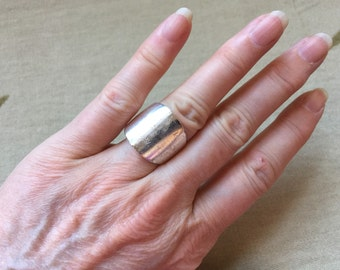 Sterling Wide Band Ring -- 137