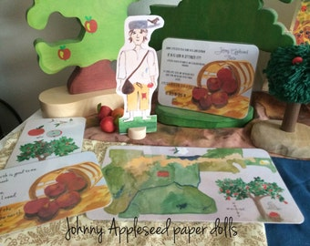 Johnny Appleseed Paper doll set