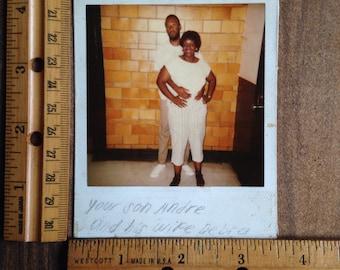 Vintage Prison Inmate Polaroid
