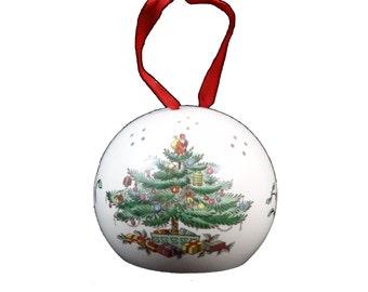 1980s Spode Christmas Tree Pomander/Potpouri Ball
