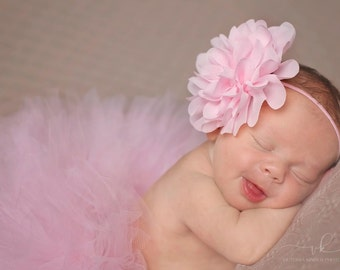 NEWBORN TUTU SET,Half Newborn Tutu, Light Pink Newborn Tutu and Headband Set, Many Colors Available,Baby Shower Gift,Photography Prop