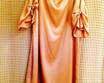 Vintage Laundry Dress - Short Silk Amber Color