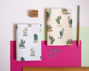 Set of Two Notebooks / Cactus Notebooks / Stationery Set / Cute Stationery / Notebook Set / Gifts for Her / Stationery Gifts / A6 Notebooks