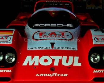 Porsche 919 Hybrid at Le Mans 24 Hour endurance race, France motorsport photograph landscape picture colour photo poster art print