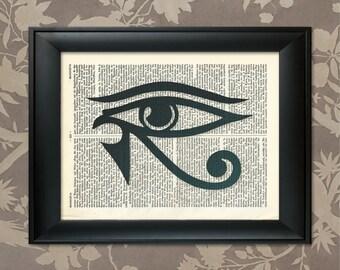 Eye of Horus Print, Eye of Horus Poster, Eye of Horus Art, Eye of Horus Decor, Eye of Horus Gift, Eye of Horus, Mysticism Print,Egyptian Art