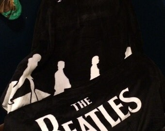 "Beatles Abbey Road 46"" x 60"" Plush Throw Blanket - Personalized"