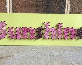 Bright Sunshine String Art Wood Sign Home Decor