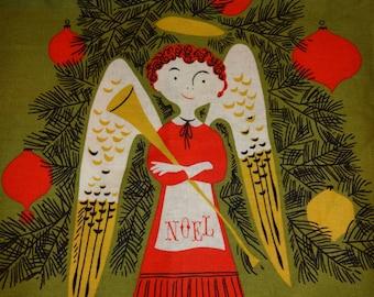 "Tammis Keefe Tribute Michael Miller Angels Linen Cotton Fabric Panel 12"" x 43"""