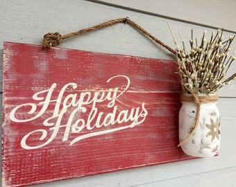 Christmas Door Decorations -  Decorating for Christmas -  Outside Christmas Decorations -  Rustic Christmas Decor - Holiday Decorations