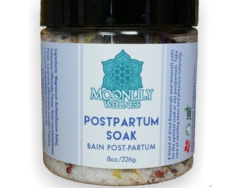 Postpartum Soak Healing Bath Salts