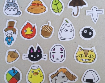 Studio Ghibli stickers/ Miyazaki stickers/ Howl's Moving Castle Stickers !!