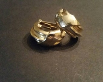 Vintage Gold Hoop Earrings Costume Jewelry